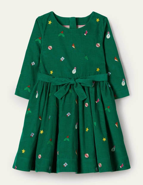 Embroidered Cord Dress