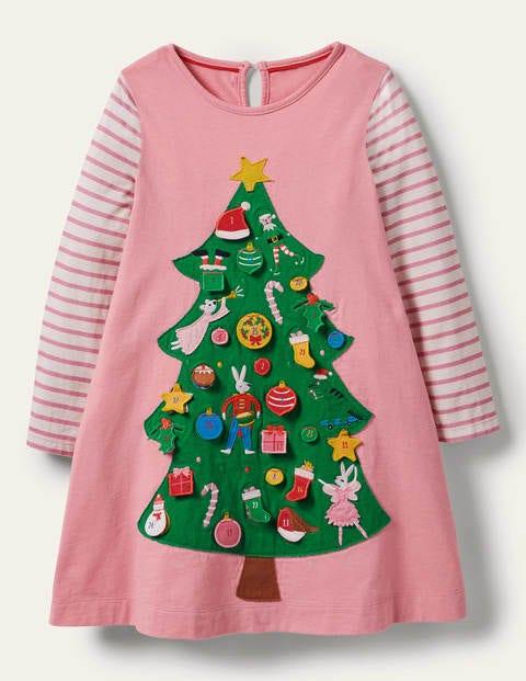 Festliches Adventskalender-Kleid