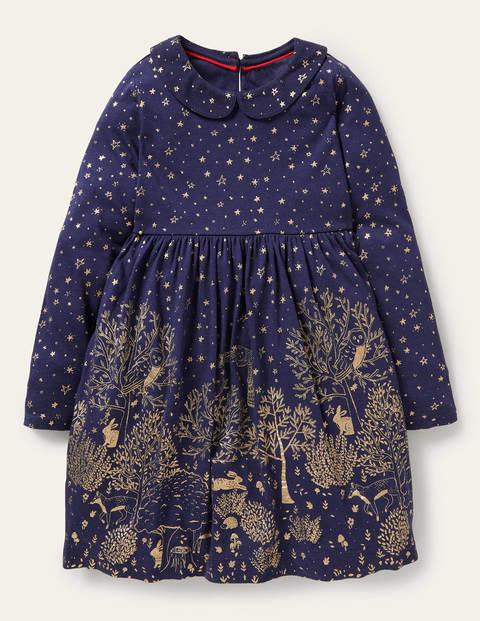 Jersey Collar Printed Dress