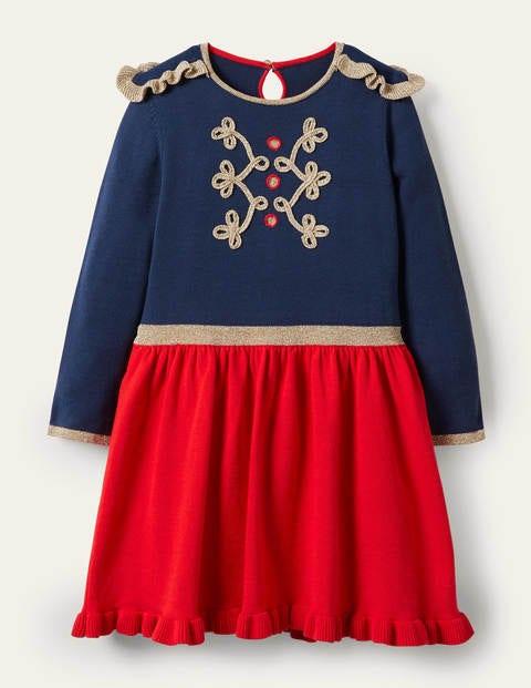 Trim Detail Knitted Dress