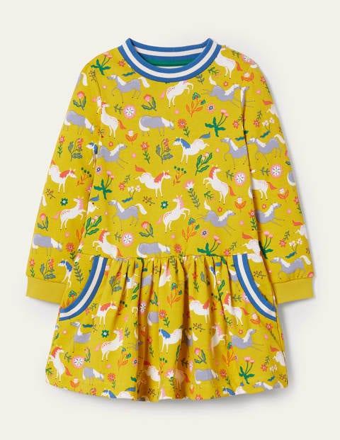 Gemütliches Sweatshirt-Kleid mit Muster