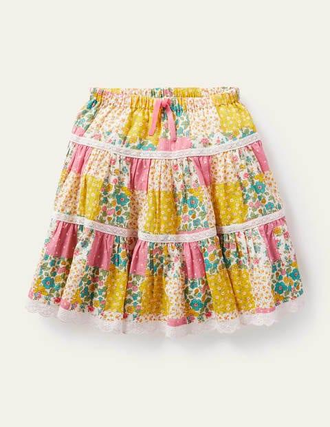 Midi Tiered Skirt