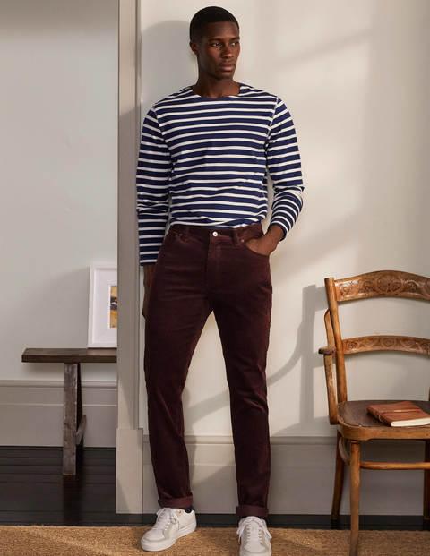 Belvedere Cord Trousers - Purple Wine