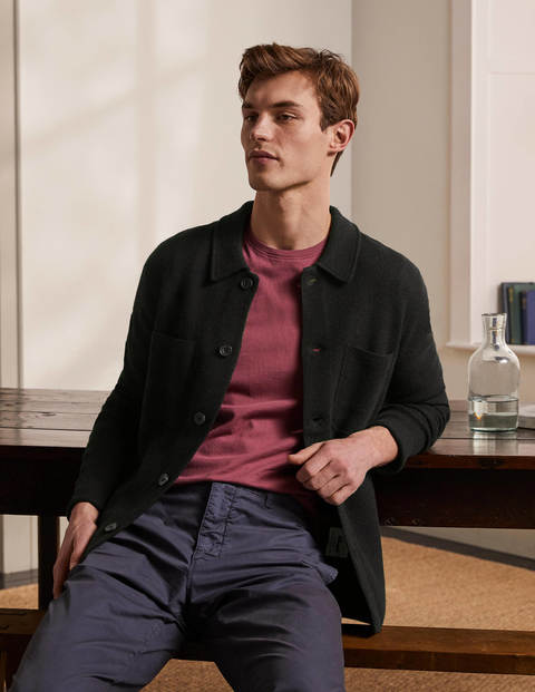 Farley Merino Knitted Jacket - Black