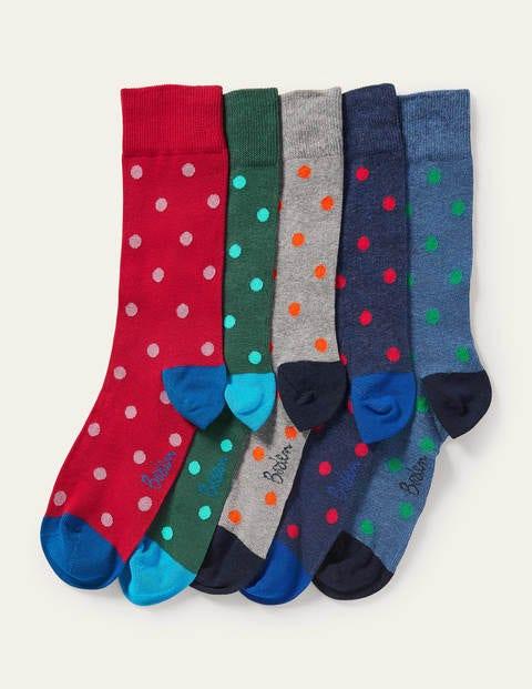 5 Pack Favourite Socks - Spot Multi Pack