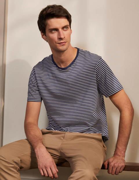 Classic Cotton T-shirt - Navy/Ivory Stripe