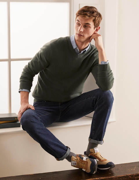 Cashmere V-neck - Richmond Green