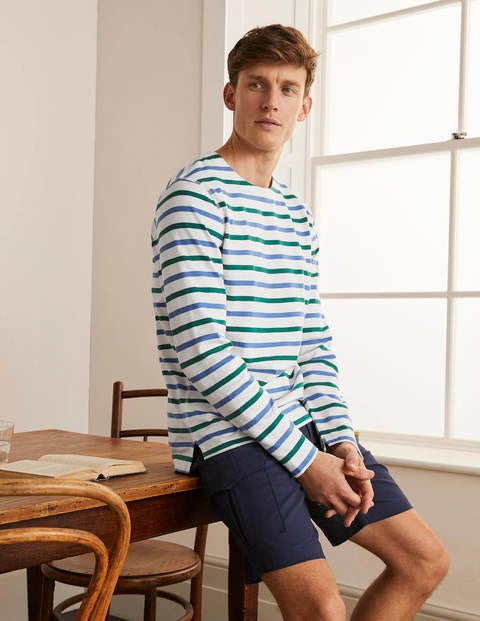 Midweight Chichester Mariner - Greenary/Sky Blue Stripe