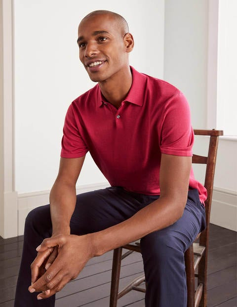 Finsbury Knitted Polo - Raspberry
