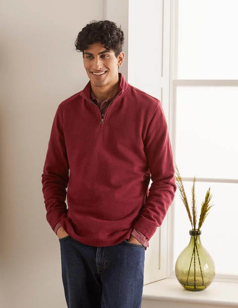 Lulworth Half-Zip - Merlot Red Marl