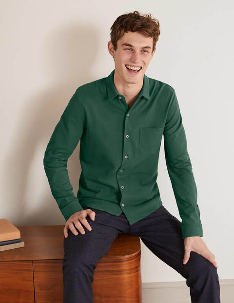 Piqué Shirt - Deep Linden Green