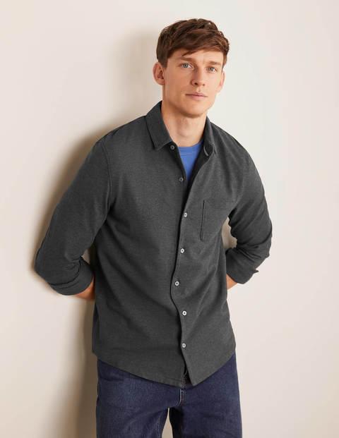Long Sleeve Piqué Shirt