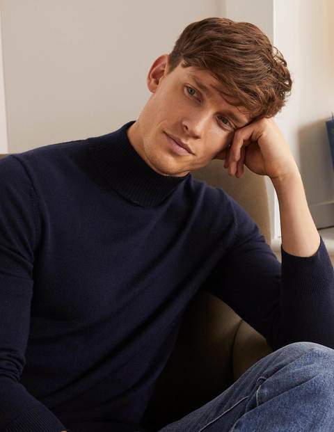 Merino Mock-Neck - Navy