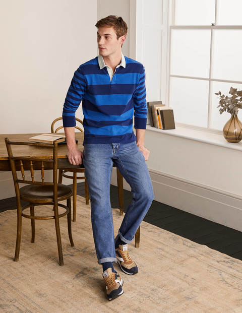 Rugby Shirt - Blues Hotchpotch Stripe