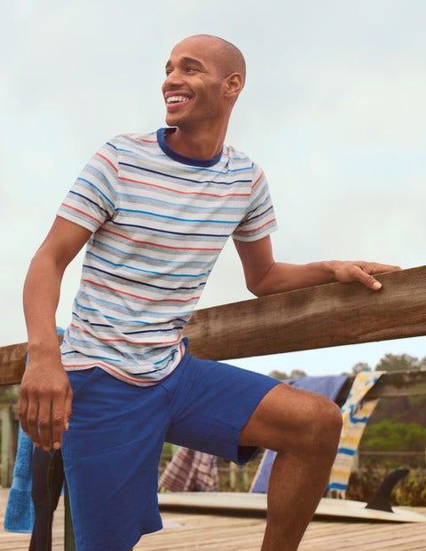Stripe T-Shirt - Grey Marl Multi Stripe