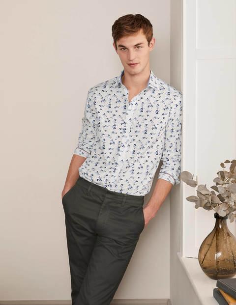 Poplin Printed Shirt - Snowdrop Spot Floral