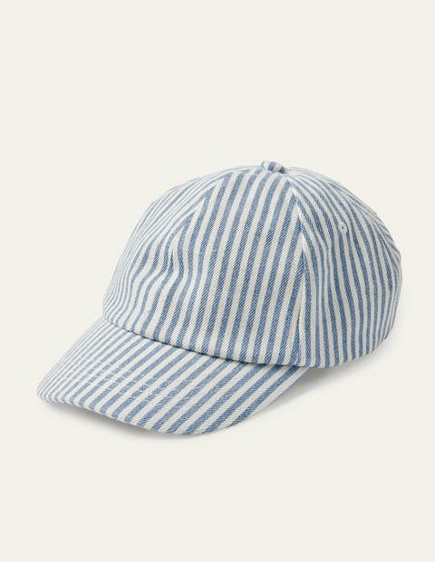 Baseball Cap - Marina/ White Stripe