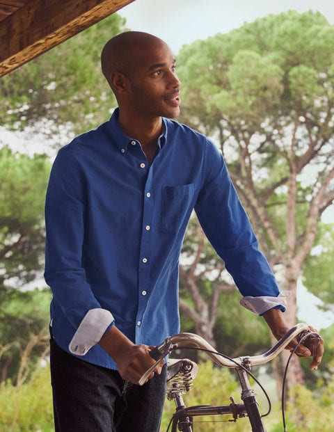 Modern Oxford Shirt - Bright Blue