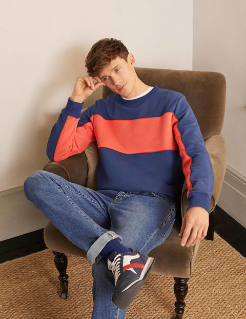 Irvine Interest Sweatshirt - Space Blue Colourblock