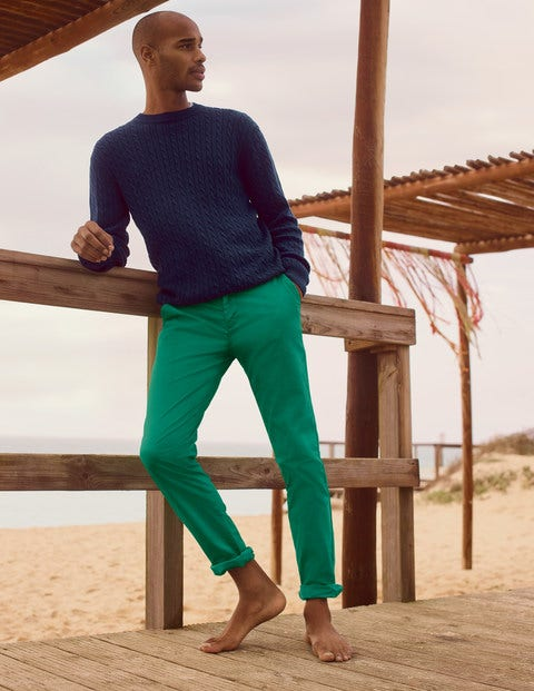 Lightweight Slim Chinos - Garden Green