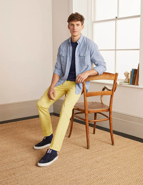 Lightweight Slim Chinos - Sunbleach Yellow