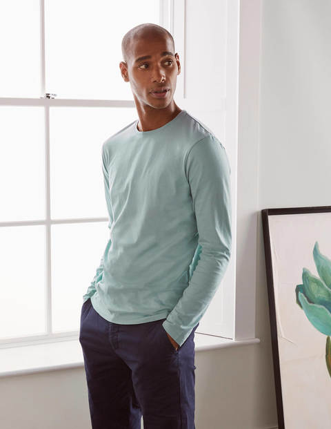 Long Sleeve Washed T-shirt - Misty Blue