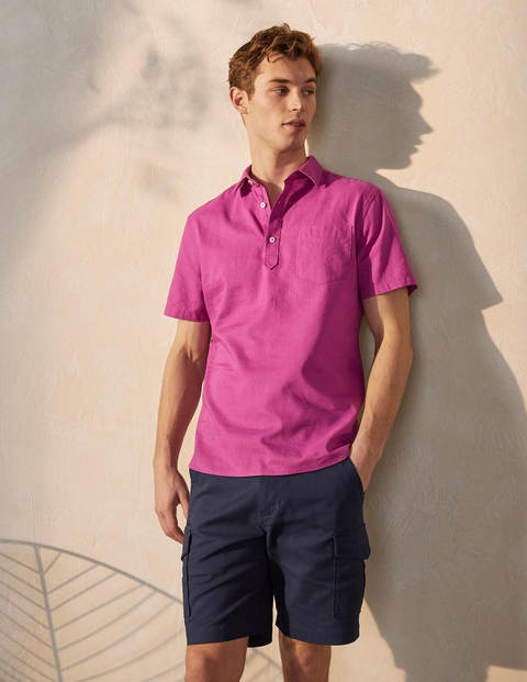 Linen Cotton Popover - Berry Mauve