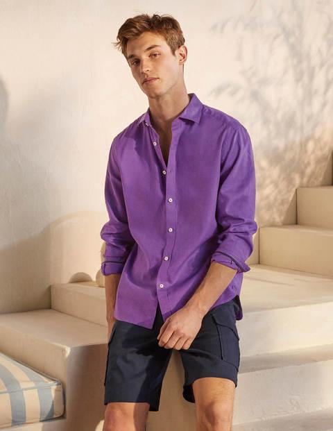 Linen Cotton Shirt - Rich Purple