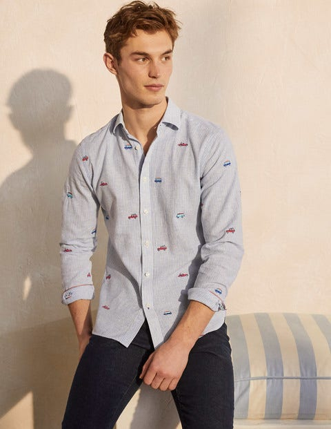 Linen Cotton Pattern Shirt
