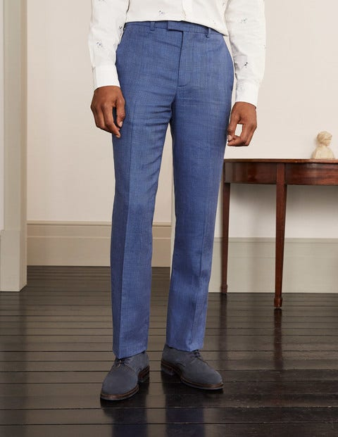 Cavenham Linen Blend Trousers - Blues POW