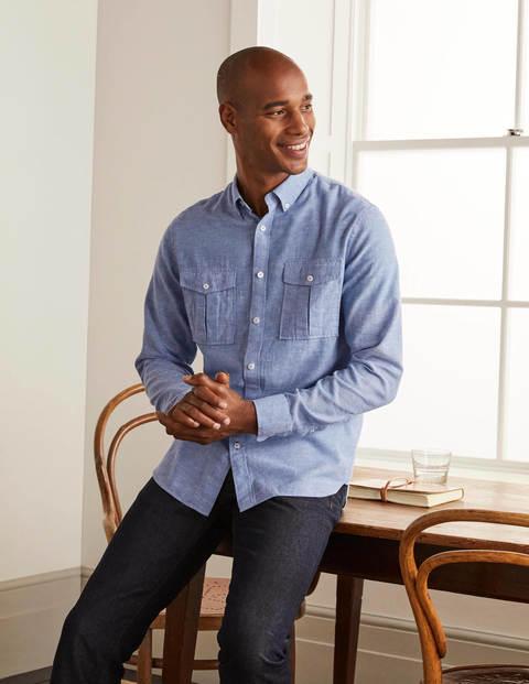 Linen Pocket Shirt - Heavenly Blue