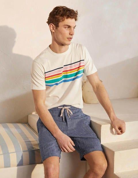 Linen Cotton Drawstring Shorts