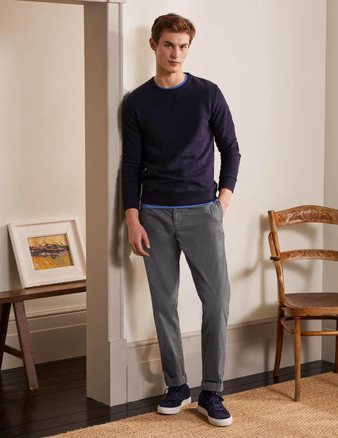 Elasticated Chino Trousers - London Grey