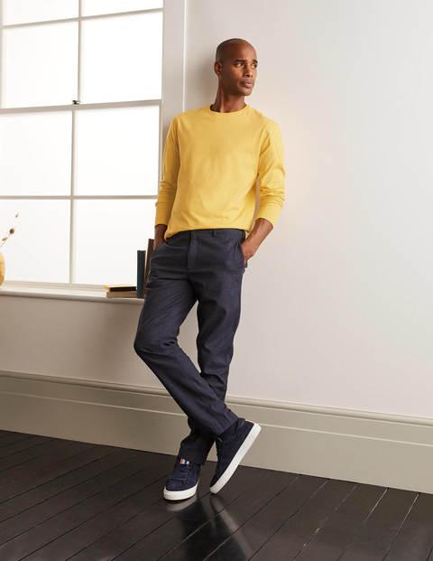 Long Sleeve Washed T-shirt - Sunbleach Yellow