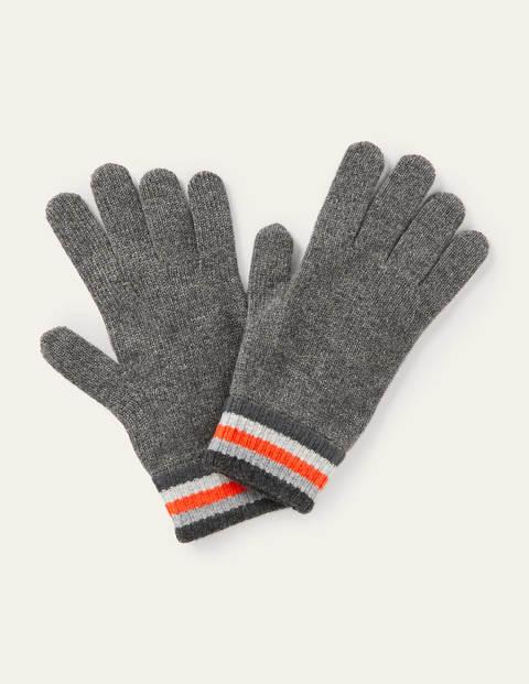Cashmere Gloves - Grey Stripe
