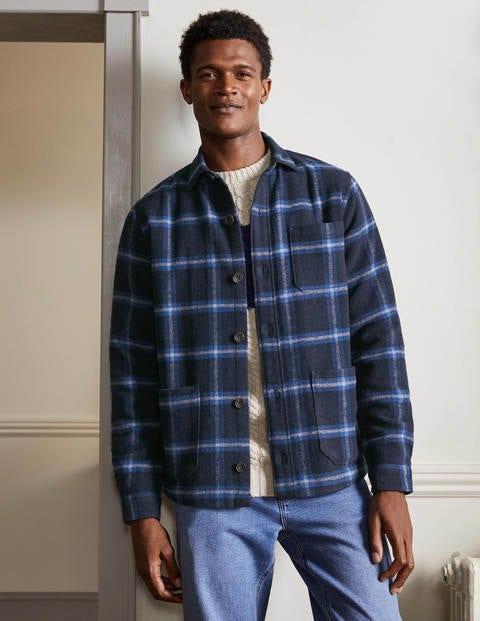 Wool Check Overshirt