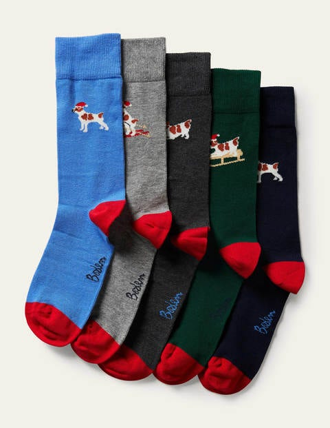 5 Pack Christmas Socks
