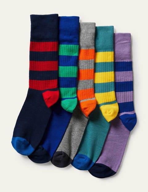 5 Pack Ribbed Socks