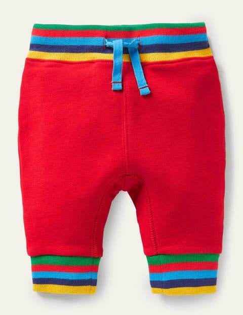 Rainbow Rib Jersey Bottoms - Rockabilly Red