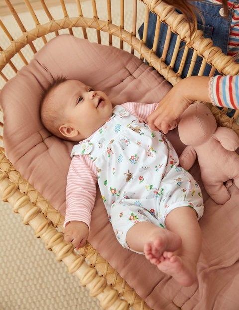 Organic Newborn Overalls Set