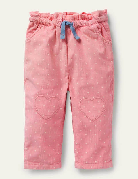 Spotty Cord Trousers - Formica Pink