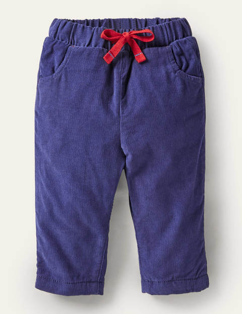 Jersey-lined Cord Pants