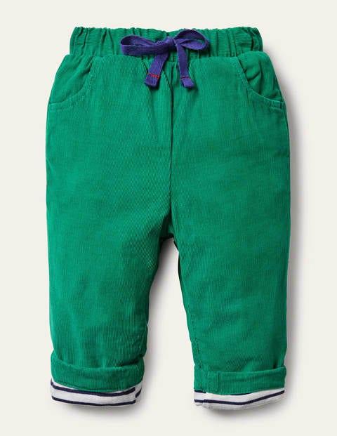 Pantalon en velours côtelé avec doublure en jersey