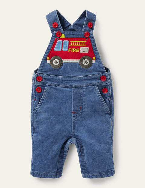 Denim Fire Engine Overalls