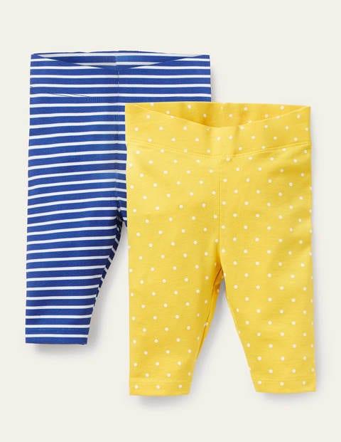 Twin Pack Leggings - Sweetcorn Yellow Pin Spot