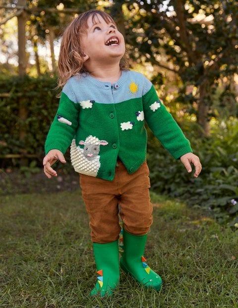 Fun Cardigan - Highland Green Sheep