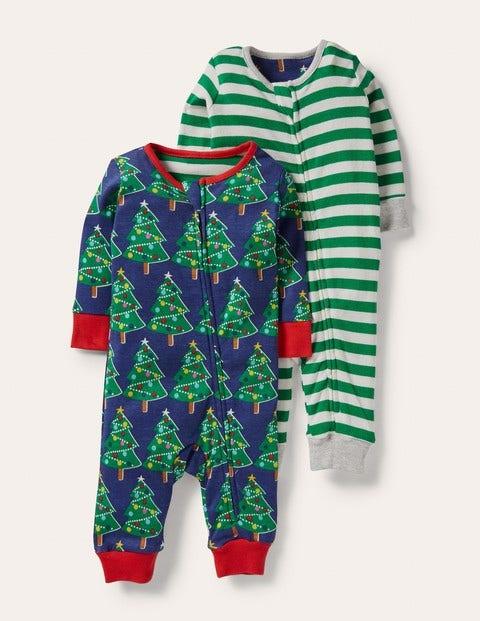 Schlafanzug mit Reißverschluss im 2er-Pack