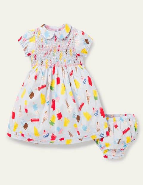 Nostalgic Smocked Woven Dress