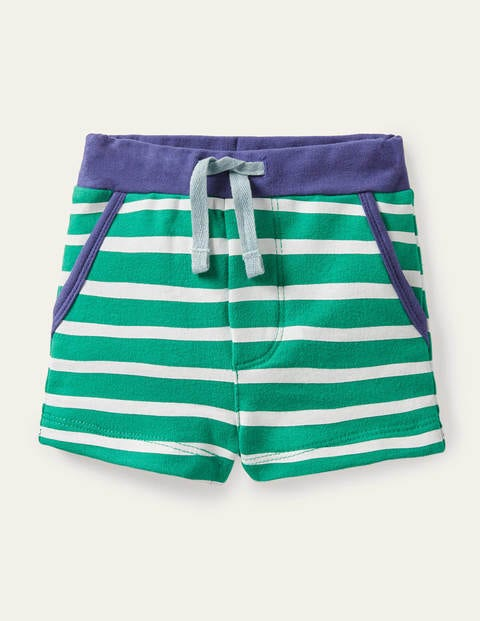 Essential Jersey Shorts - Ivory/Sapling Green