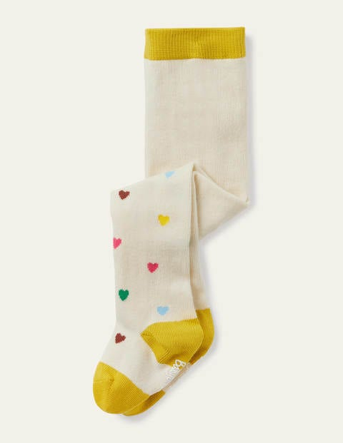 Everyday Tights - Multi Rainbow Hearts